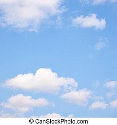 Light blue spring sky