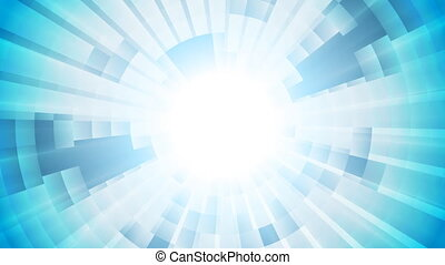 Light blue tech abstract video animation