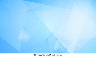 Light blue tech geometric polygonal video animation