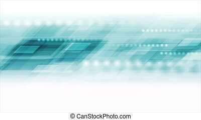 Light blue technology geometric abstract motion background