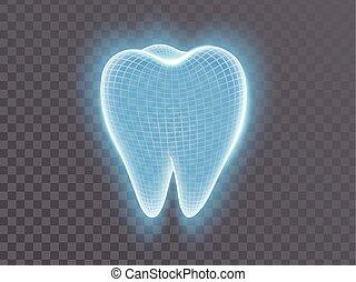 light blue tooth vector