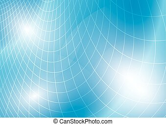 light blue vector background with curved grid