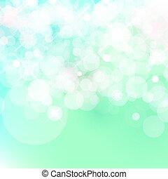 light blue Vector bokeh background made from white lights