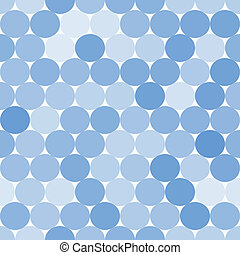 Light blue vector seamless pattern with circles. Abstract geometrical background.