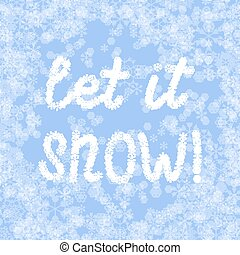 light blue vector snow background with lettering