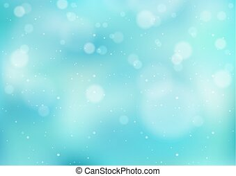 Light Blue Winter Background with Snowfall