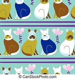 Light blue with simple dog illustration seamless pattern background design.