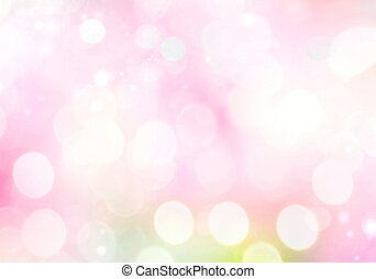 Light blurred pink soft background. Spring backdrop. Valentine's bokeh.