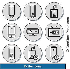 Light boiler icons
