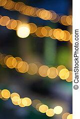 Light bokeh, blurred background