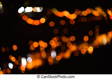 Light bokeh from candles
