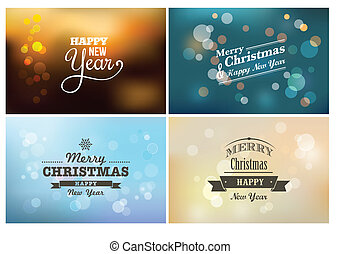 Light bokeh, magic Christmas lights - backgrounds - Light...