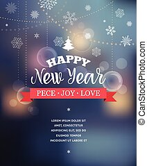 Light Bokeh, Merry Christmas Background With Typography - ...