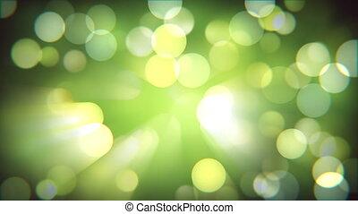 Light bokeh nature fresh effect. Blurred spring forest....