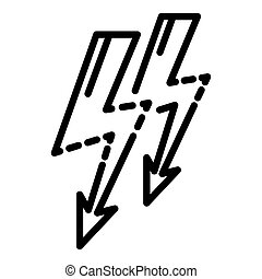 Light bolt icon, outline style