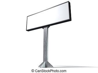 Light Box Horizontal - A blank horizontal light box street ...