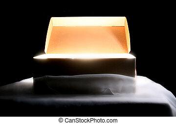light box idea concept on black
