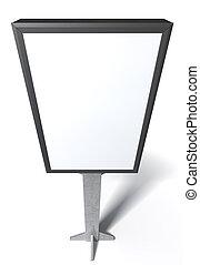 Light Box Vertical - A blank vertical light box street ...