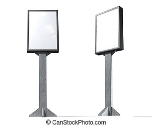 Light Box Vertical - A blank vertical light box street...