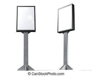 Light Box Vertical - A blank vertical light box street...