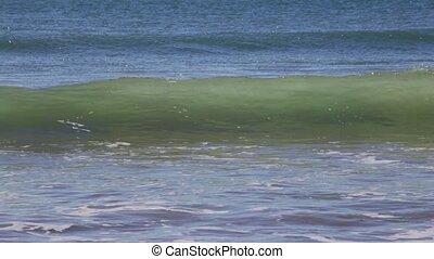 Light Breeze waves at sea Algave Portugal. - Light Breeze...