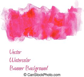 watercolor painting banner