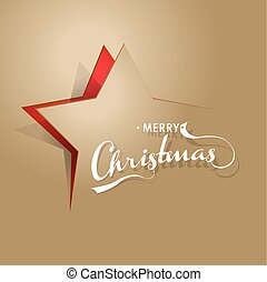 Light brown background with Christmas star and Merry Christmas text.