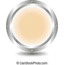 Light brown button