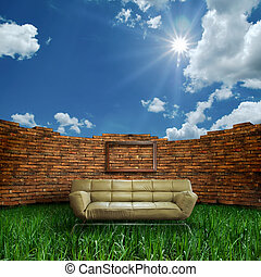 light brown color sofa