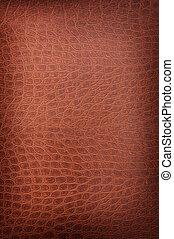 light brown crackled leather background shot square on