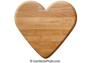brown heart made of wooden planks
