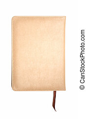 Light brown leather notebook