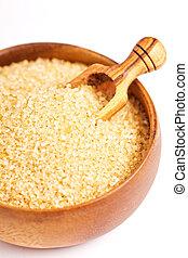 Light brown sugar in a bowl
