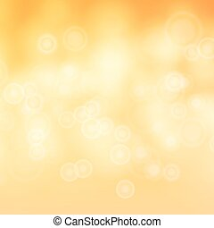 Light Brown, Yellow, Orange Background Vector. Bokeh Background With Vintage Filter.