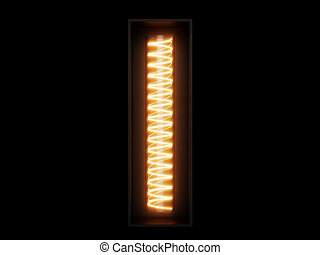 Light bulb alphabet character I font
