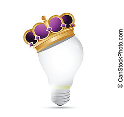 light bulb and crown illustration design