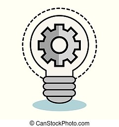 Light bulb and gear wheel