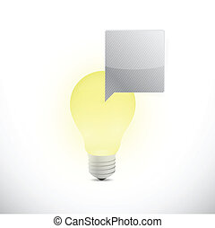 light bulb and message bubble illustration