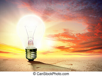 Light bulb and nature