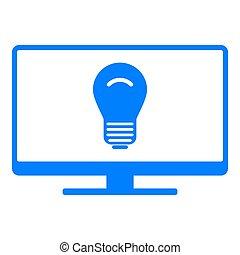 Light bulb and screen