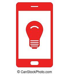 Light bulb and smartphone