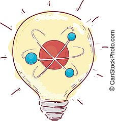 Light Bulb Atom Illustration