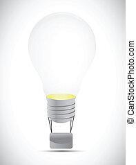 light bulb balloon illustration