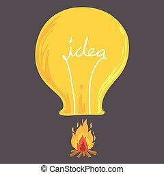 Light bulb balloon