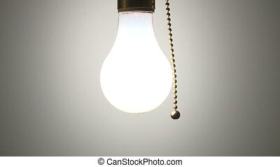 Light bulb being turned off