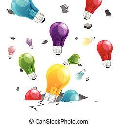 Light Bulb Breaking Broken Ground