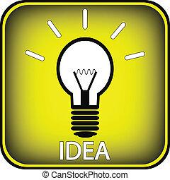 Light bulb button