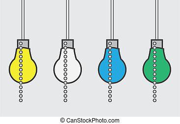 Light Bulb Chain Colors