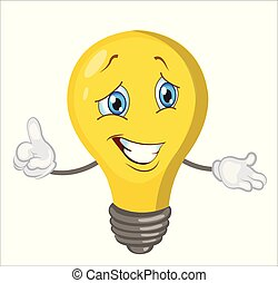 light bulb character cartoon