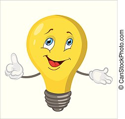 light bulb character cartoon. vector